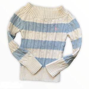 Ralph Lauren Girls Cable Knit Cotton Sweater 2T